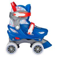 Nijdam Geo Metricker rolschaatsen - maat 33/36 - blauw