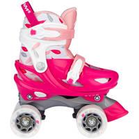 Nijdam Feather Drops rolschaatsen - maat 29/32 - roze