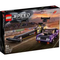 LEGO Speed Champions Mopar Dodge SRT Top Fuel Dragster en 1970 Dodge Challenger 76904