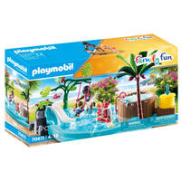 PLAYMOBIL Family Fun kinderzwembad met whirlpool 70611