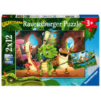 Ravensburger puzzelset De kleine dinobende - 2 x 12 stukjes