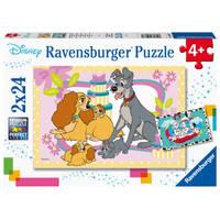 Ravensburger puzzelset Disney De schattigste Disney puppies - 2 x 24 stukjes