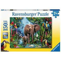 Ravensburger puzzel Olifanten in de jungle - 150 stukjes