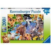 Ravensburger puzzel Vrolijke boederijdieren - 200 stukjes