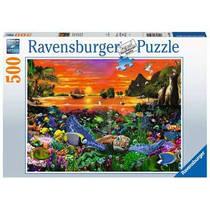 Ravensburger puzzel Schildpad op het rif - 500 stukjes