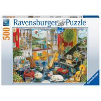 Ravensburger puzzel De muziekkamer - 500 stukjes