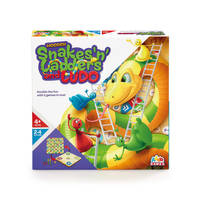 WOODEN SNAKES, LADDERS & LUDO