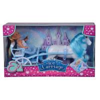 Evi pop met ijskoets en paard - 12 cm