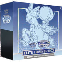 Pokémon TCG Sword & Shield Chilling Reign Ice Rider Calyrex Elite Trainer box