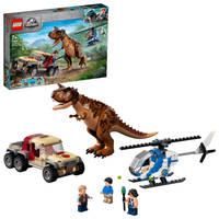 LEGO Jurassic World Carnotaurus dinosaurus achtervolging 76941