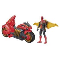 Marvel Spider-Man figuur met motorfiets