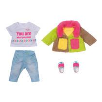 BABY born deluxe kleurrijke jas - 43 cm