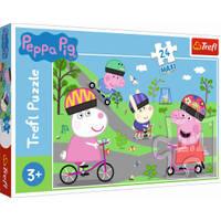 Trefl maxi puzzel De actieve dag van Peppa Pig - 24 stukjes