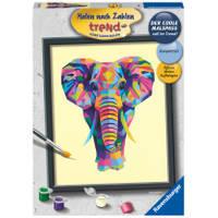 Ravensburger Schilderen op nummer bonte olifant