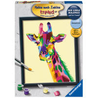 Ravensburger Schilderen op nummer bonte giraffe