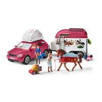 Schleich Horse club avontuur met auto en paardentrailer 42535