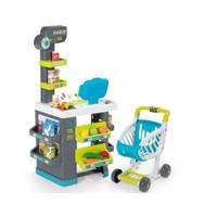 Speel supermarkt met accessoires - blauw/groen