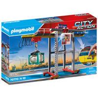 PLAYMOBIL City Action cargo portaalkraan met containers 70770