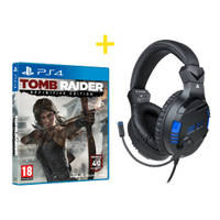 PS4 stereo gaming headset V3 + Tomb Raider Definitive Edition