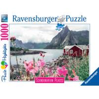 Ravensburger puzzel Reine Lofoten Noorwegen - 1000 stukjes