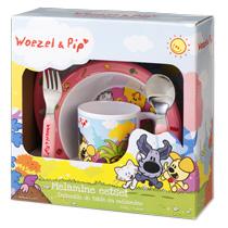 Woezel en Pip Kinderservies 5-Delig Roze
