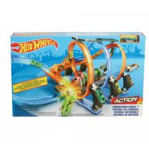 Hot Wheels kurkentrekker crash racebaanset